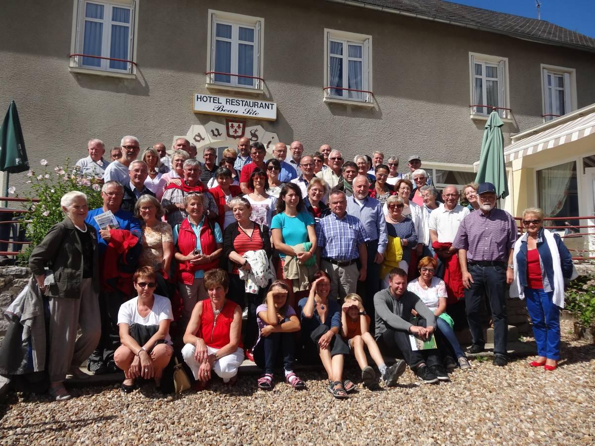 Le groupe franco-allemand à Moux (2016)