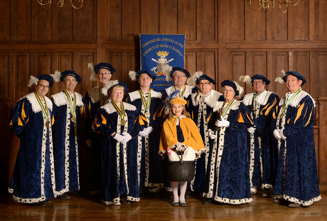 La confrérie de la Poule au Pot d'Henri IV et du Pays d'Arnay