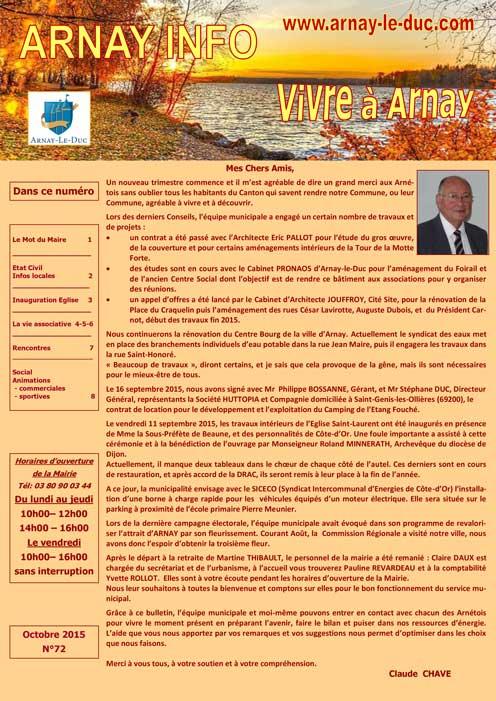 Bulletin municipal octobre 2015