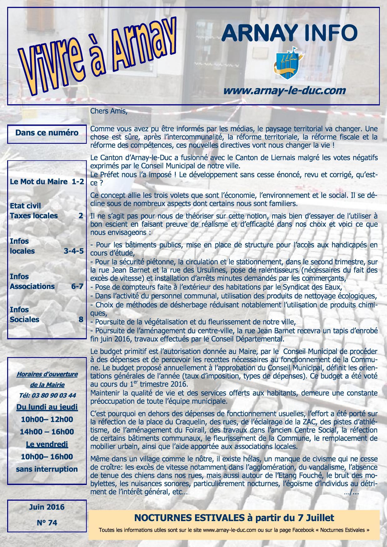 Bulletin municipal juin 2016