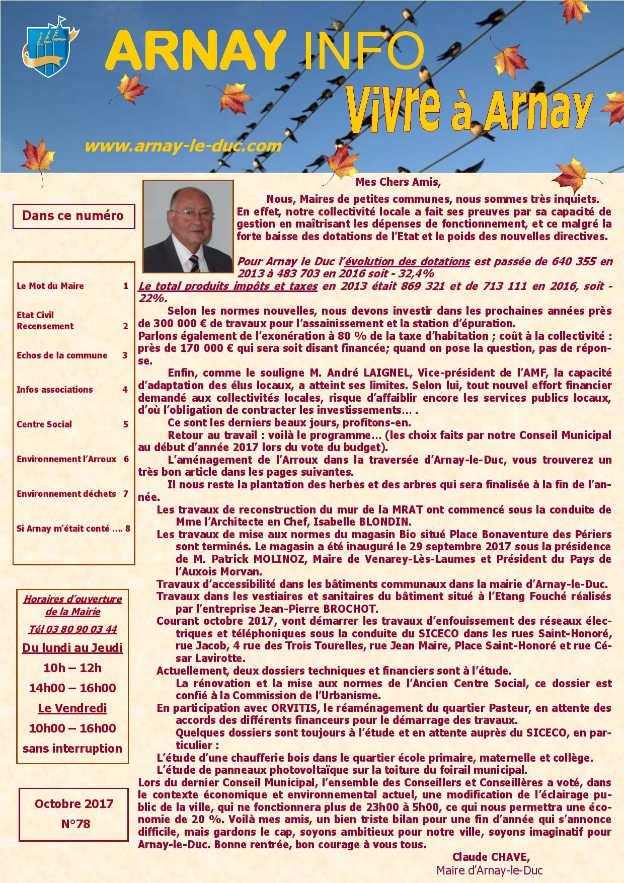 Bulletin municipal octobre 2017