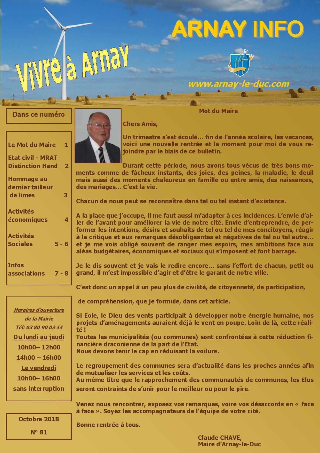 Bulletin municipal octobre 2018