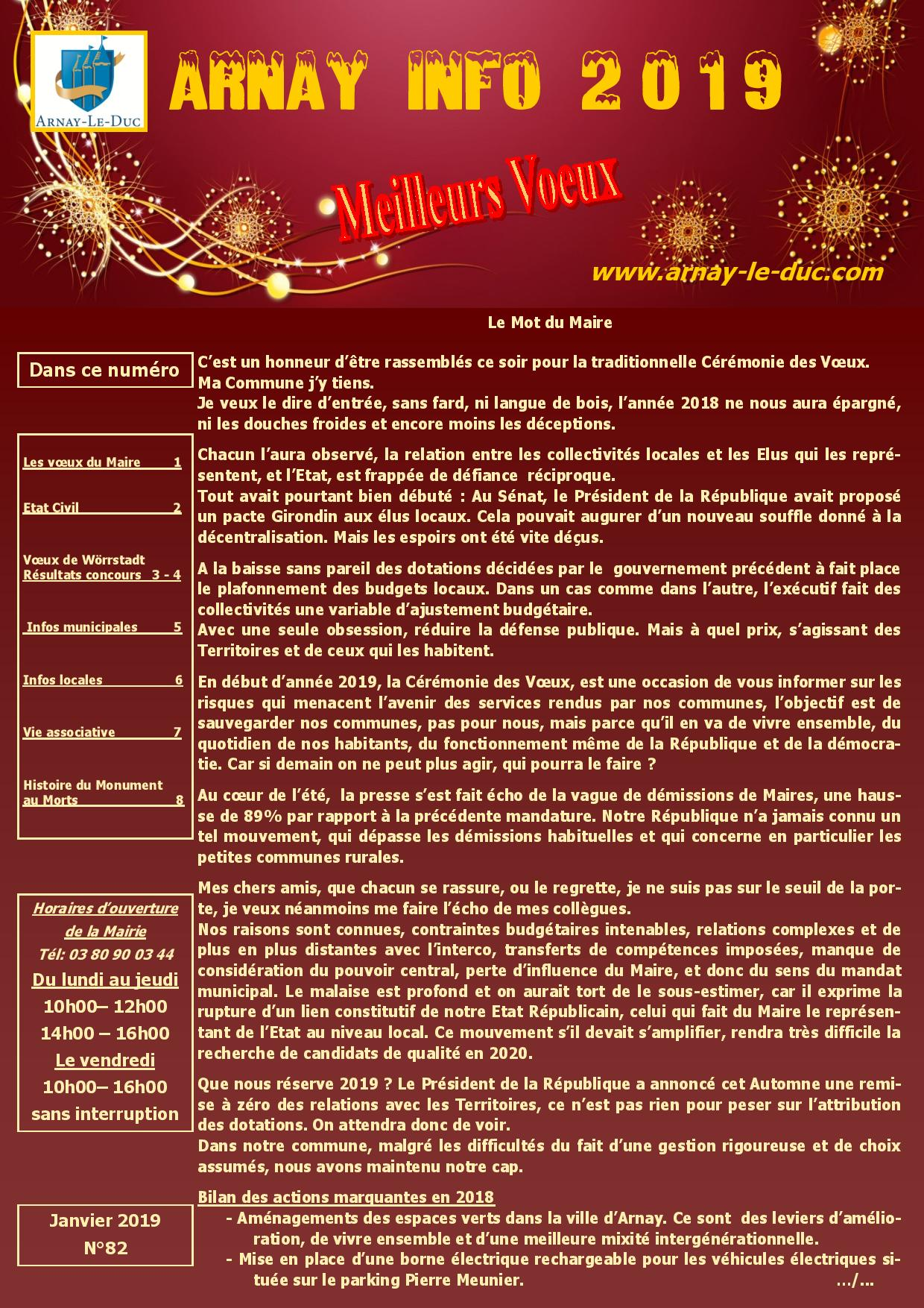 Bulletin municipal janvier 2019
