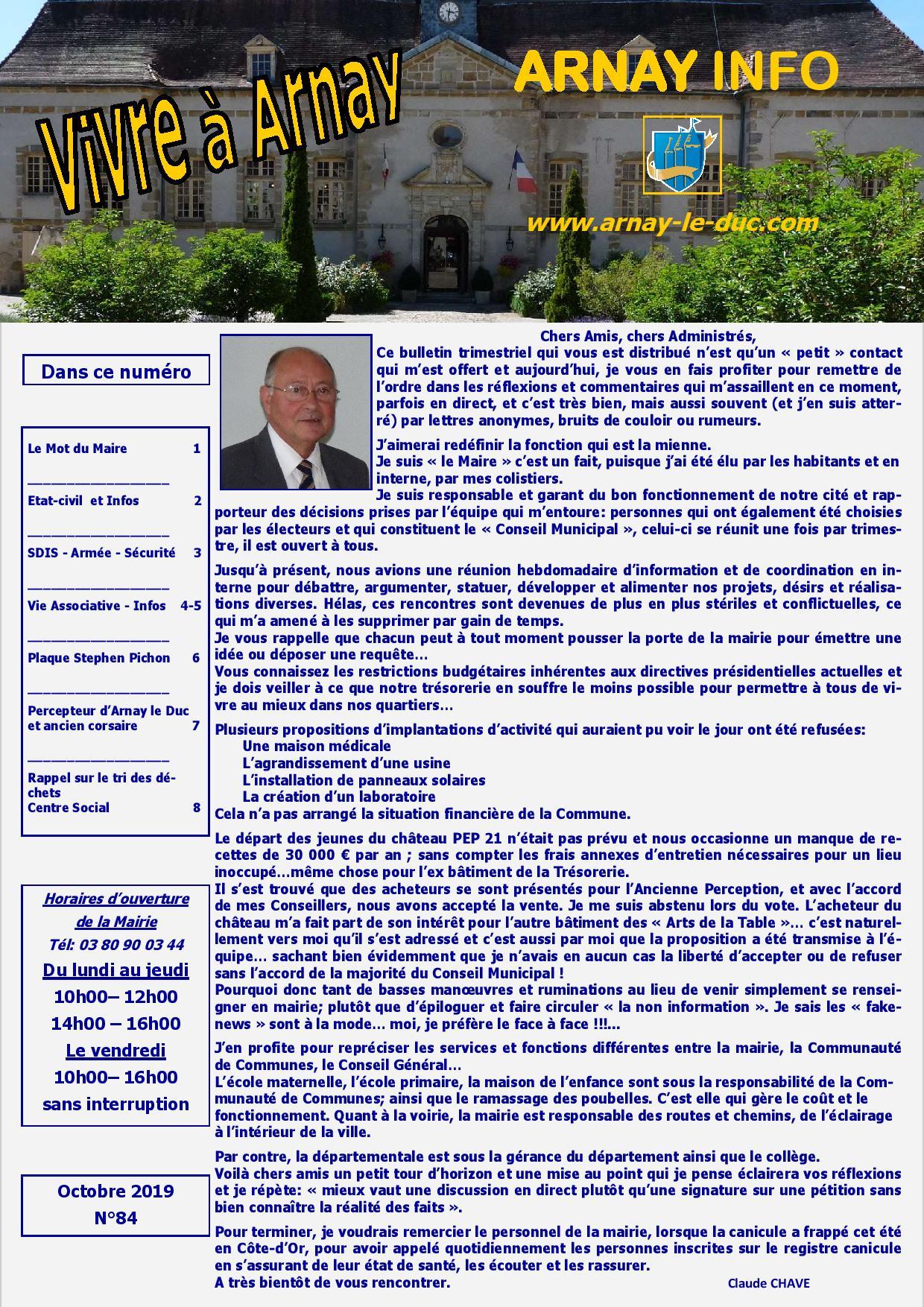 Bulletin municipal octobre 2019